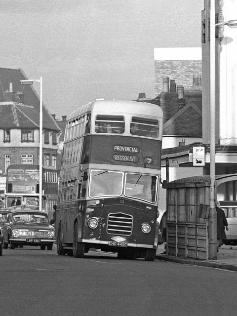 Gosport & Fareham 33 CHO 449C Bus 1969 Is this Stoke Road by the Forum Cinema Gosport Hants by Roger Cox