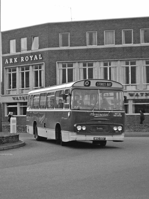 Gosport & Fareham 46 MHO 195F Bus 1969 Ferry Rounderbout Gosport Hants by Roger Cox