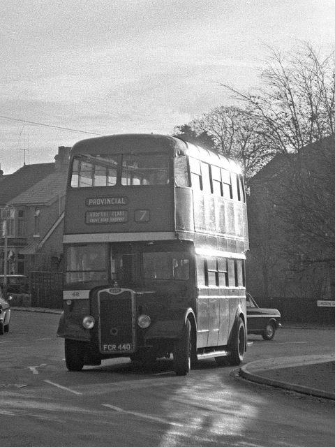Gosport & Fareham 48 FCR 440 Bus 1969 Foster Rd/Linden Grove by Roger Cox