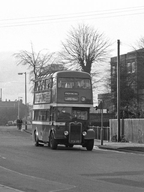 Gosport & Fareham 65 FCR 1201 Bus 1969 Is it Bury Road Gosport Hants by Roger Cox