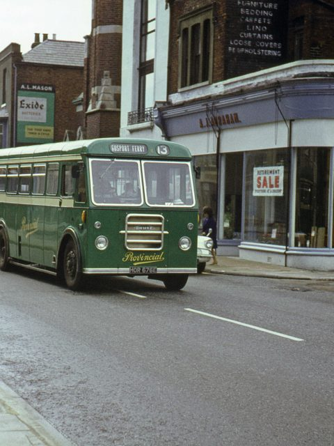 Gosport & Fareham 8 HOR 676E Bus 1967 Stoke Road Gosport Hants by Roger Cox