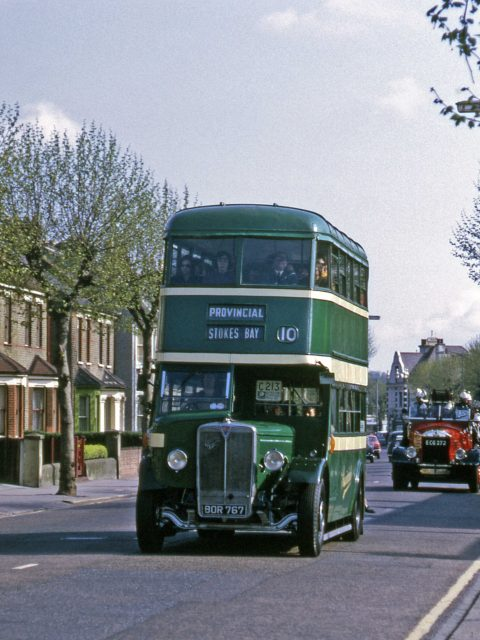 Buses Gosport & Fareham 35 BOR 767 1972 South Croydon 6th May 1972 by Roger Cox