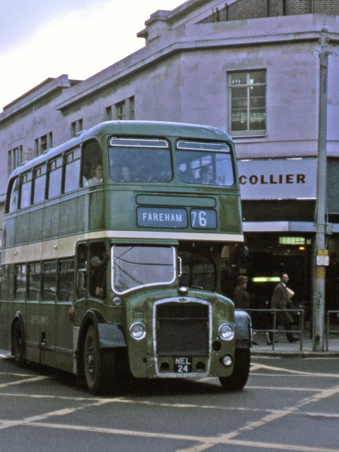 Hants & Dorset 25th June 1967 Civic Centre Rd/Above Bar Street, Southampton, Colliers is now a KFCby Roger Cox