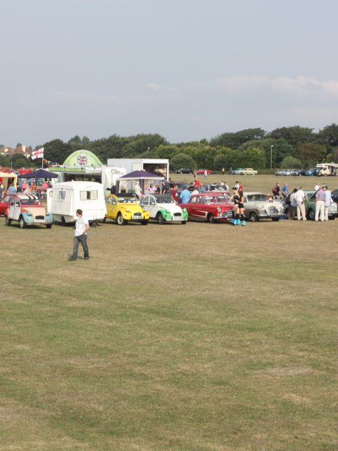 Gosporteers Motor Show Car Rally Stokes Bay Gosport Hants View Across Site 26th August 2013 by Thomas Newton