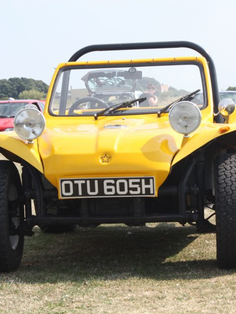 Gosporteers Motor Show Car Rally Stokes Bay Gosport Hants Yellow Bug 26th August 2013 by Thomas Newton