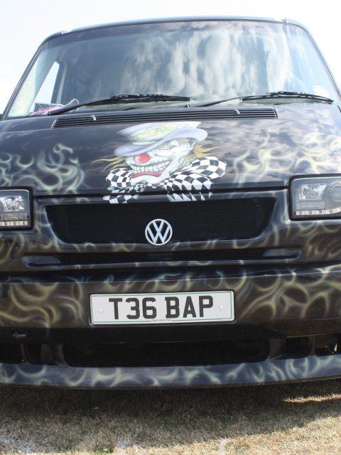 Gosporteers Motor Show Car Rally Stokes Bay Gosport Hants Black Art VW Van 26th August 2013 by Thomas Newton