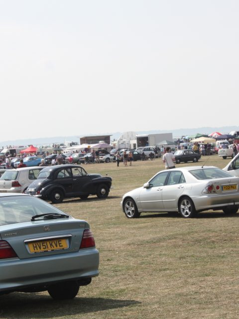 Gosporteers Motor Show Rally Stokes Bay Gosport Hants View across the site 26th August 2013 by Thomas Newton