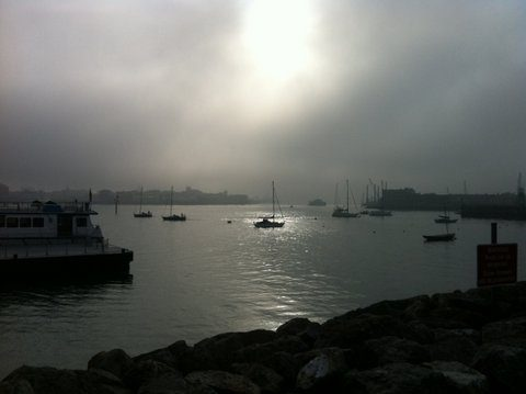 Portsmouth Harbour from Gosport Hants- By Martin Chandler 2012