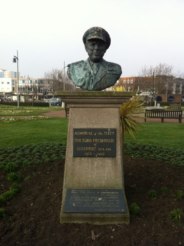 Lord Fieldhouse Bust Ferry Gardens Gosport Hants- By Martin Chandler 2012
